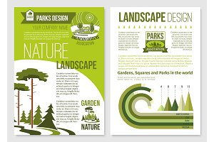 Vector brochure for nature landscape design