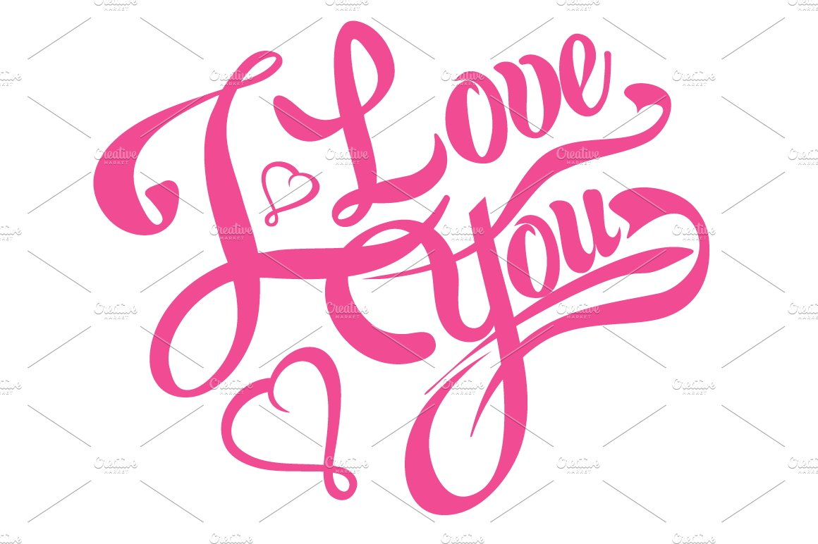 i love you lettering design tattoo script fonts