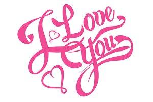 I love you, lettering design, tattoo
