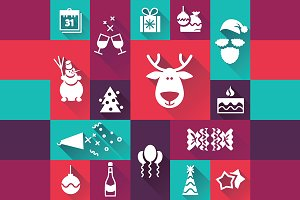 Christmas | New Year flat icons