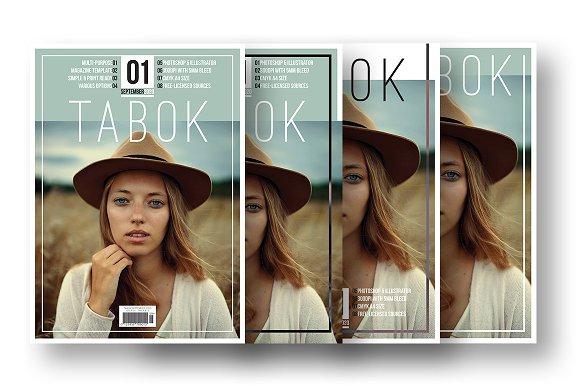 Tabok - Magazine Cover Template