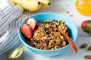 Homemade delicious granola
