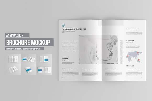 Free A4 Brochure / Catalog Mock-Up