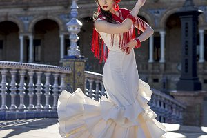 Young elegance flamenco dancer