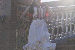 Young elegance flamenco dancer