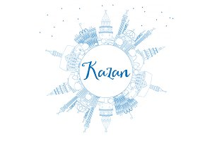 Outline Kazan Skyline