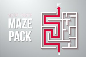 Vector Maze Labyrinth Pack