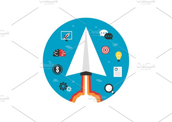 Paper Plane Startup Imagination
