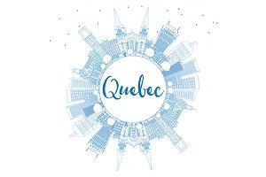 Outline Quebec Skyline
