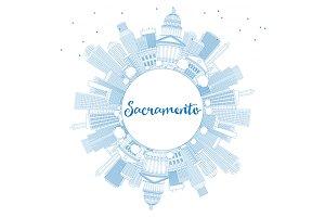 Outline Sacramento Skyline