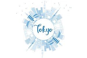 Outline Tokyo Skyline