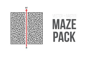 Vector Maze Puzzle Game Pack