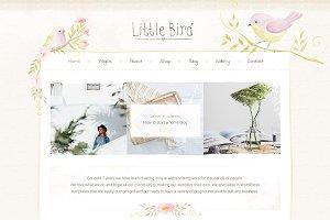 Little Bird Shop Blog Design PSD