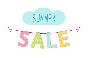 Cute colorful banner Summer Sale