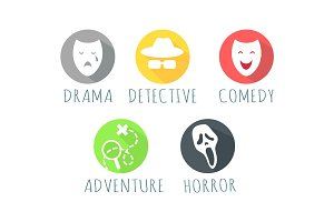 Drama Detective Comedy Adventure Horror Film Logo