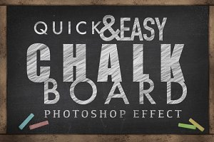 Chalkboard Photoshop Effect - (SALE)