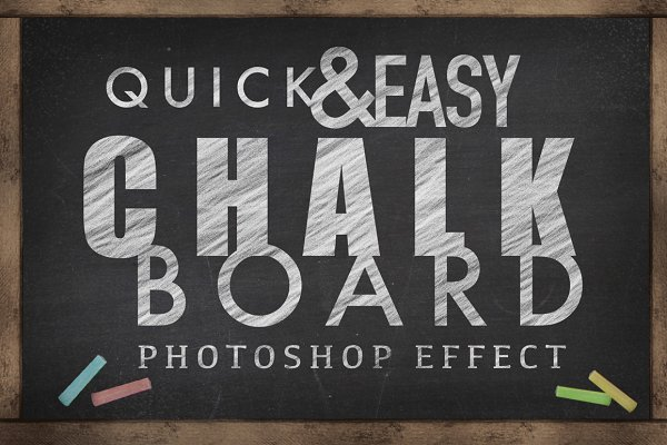 Chalkboard Photoshop Effect - (SALE…