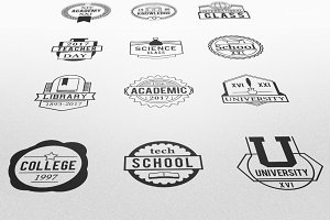 Education Vector Badges Logos