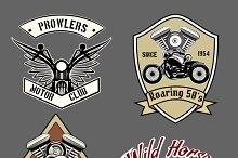 Vintage motorcycle labels