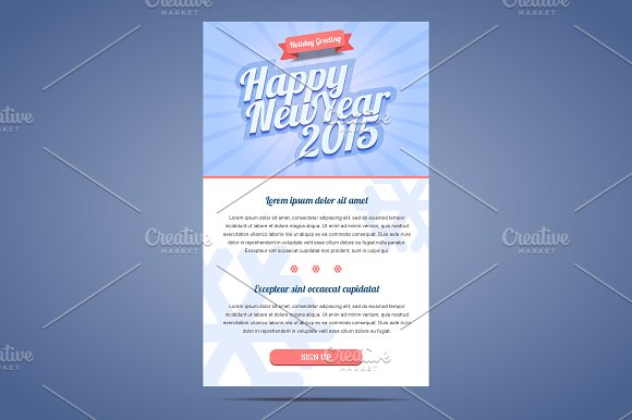 happy new year email template illustrations creative market