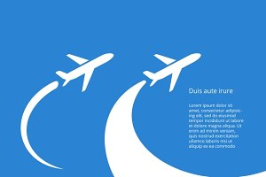 Airplane icon vector design
