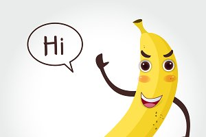 Banana  cartoon vector illustration