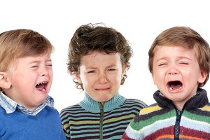 Children crying