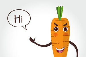 Carrot  cartoon style