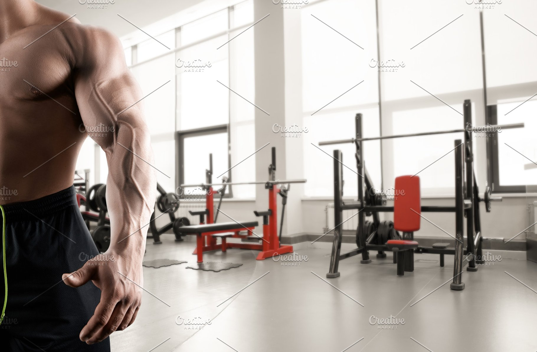 Abstract gym background