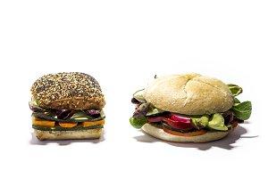 Fresh vegan hamburger
