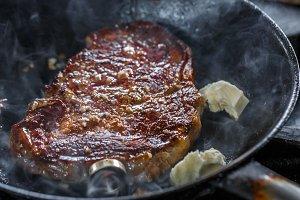 Pork meat steak