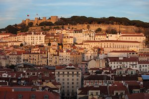 Old City of Lisbon at Sunset