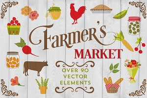 Farmers Market Vector Graphics