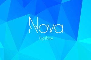 Nova display typeface