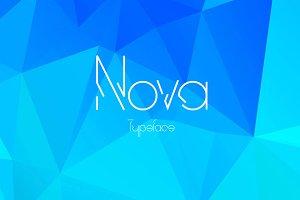 Nova display typeface