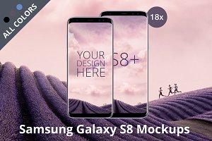Samsung Galaxy S8 Android Mockups