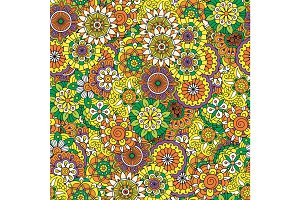 Floral decorative mandala style pattern