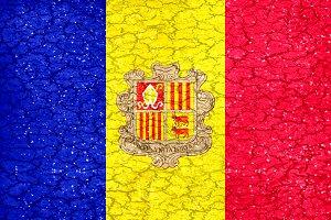 Andorra Grunge Style Flag