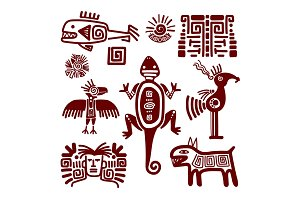 Maya or indian traditional signs