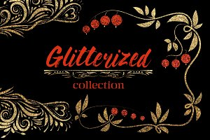 SALE! GLITTERIZED clipart & patterns