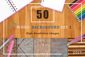 50 Wood Texture Background Set 1