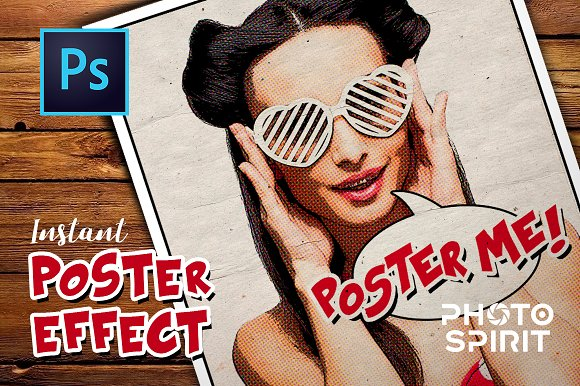 Instant Poster Effect PSD Template - Product Mockups