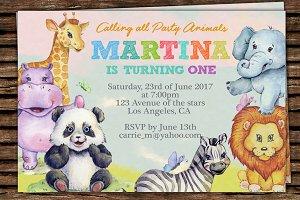 DIY Animals Printable Invitation