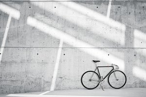 Bicycle on concrete background 01