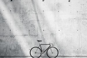 Bicycle on concrete background 02