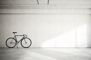 Bicycle on concrete background 03