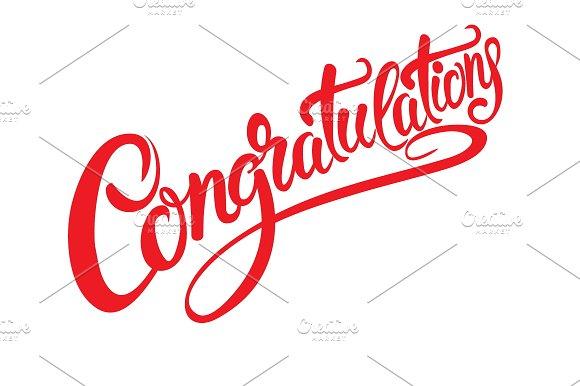 congratulations calligraphy vector script fonts creative market