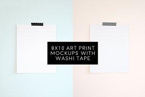 5 Blank 8x10 Art Prints Bundle