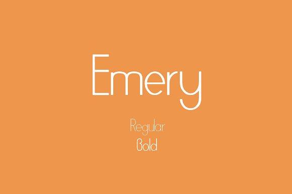 Emery sans serif typeface