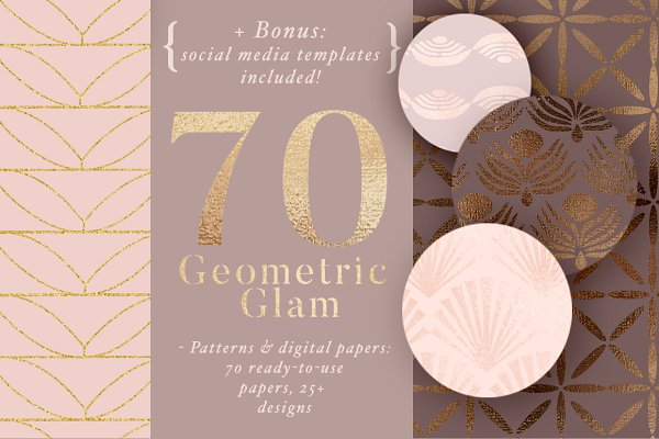 70 Geometric Glam Patterns